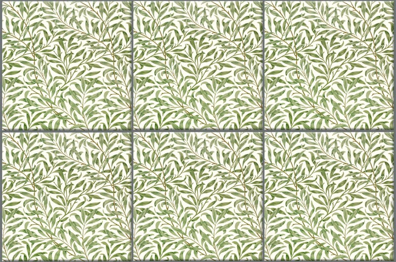 William Morris Willow tiles