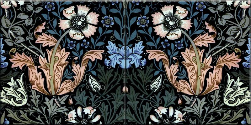 William Morris Tile: Compton, winter colors