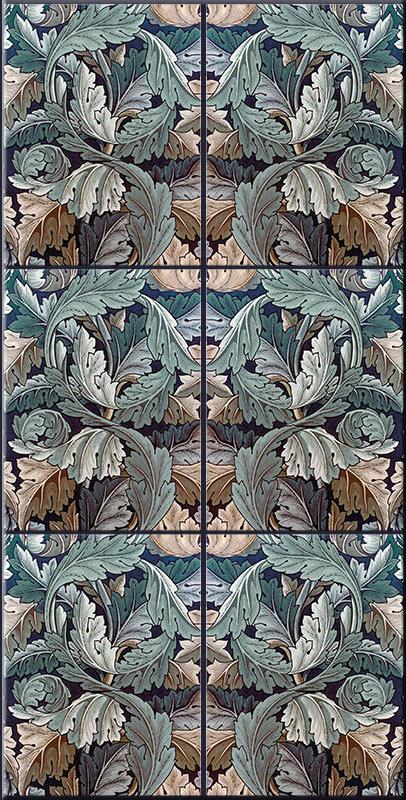 William Morris Acanthus tiles, facing