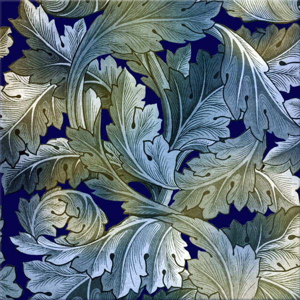 William Morris Acanthus tile, acanthus royale variation