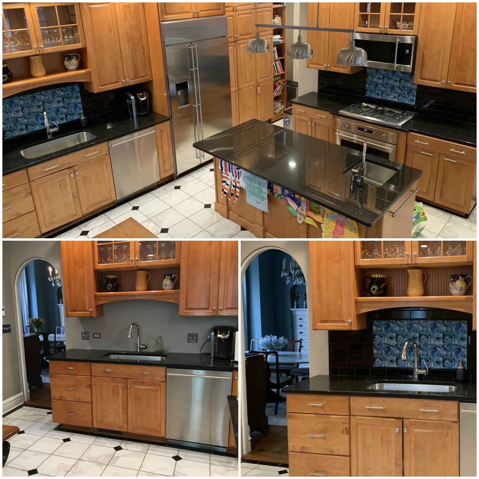 William Morris Acanthus kitchen, Heavenly Blues