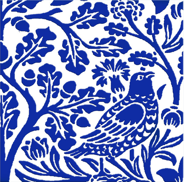 William Morris Brother Rabbit bird detail