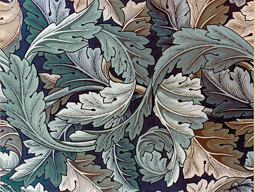 William Morris Acanthus, Green and Gold.