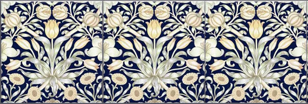 William Morris Lily and Pomegranate Tiles