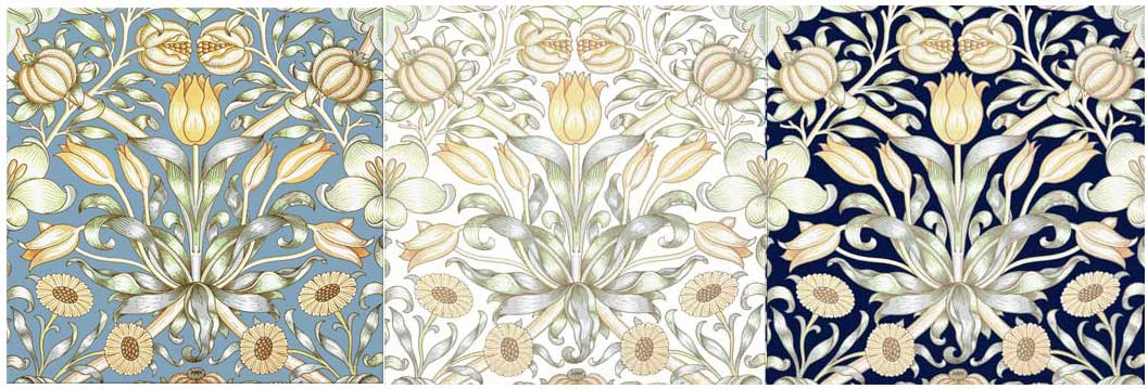 William Morris Co. Lily and Pomegranate Tiles