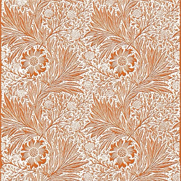 William Morris Marigold Tile, marigold on white