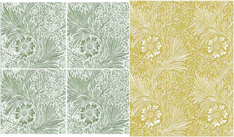 William Morris Marigold tiles