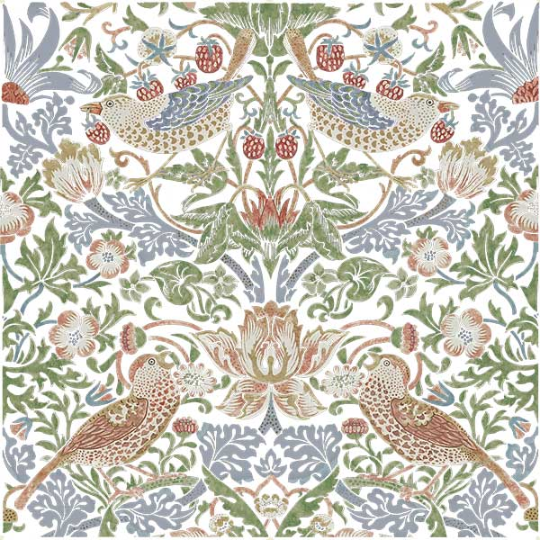 Strawberry thief tile, Abigail colorway