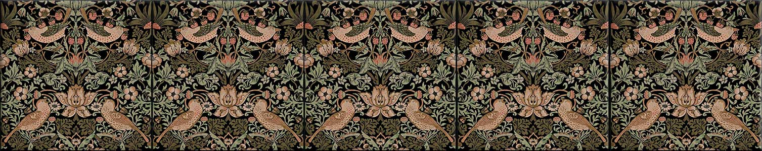 William Morris Strawberry Thief, seamless tiles