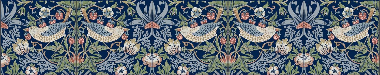 William Morris Strawberry Thief, small border tiles