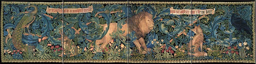 Forest tapestry border tiles, design by William Morris