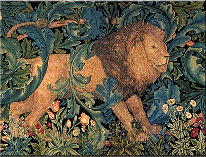 Philip Webb Lion. William Morris Tile