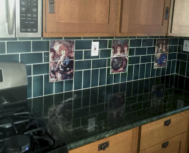 Days of Creation Angel backsplash