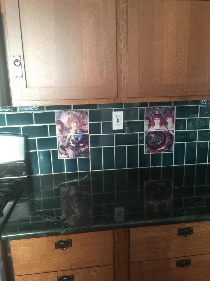 Days of Creation Angels backsplash, second and third angels