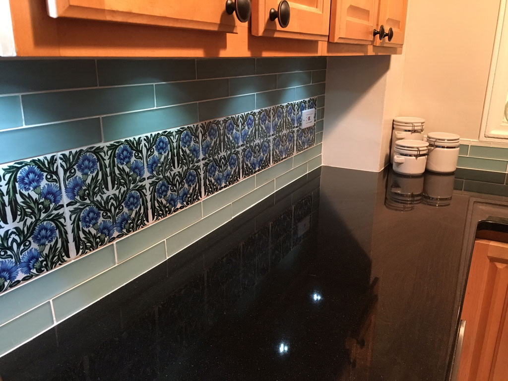 William De Morgan ceramic kitchen tiles