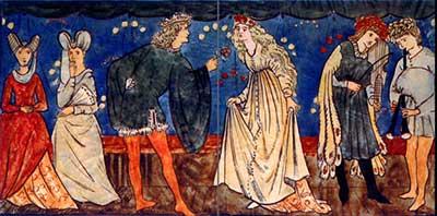 Cinderella tile panel: Cinderella attends the ball.