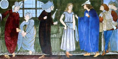 Cinderella tile panel: Cinderella pulls the matching slipper from her pocket