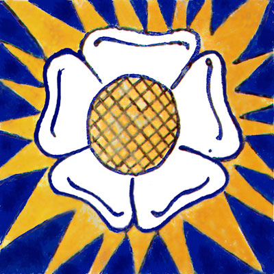 Tudor Rose tile, William Morris