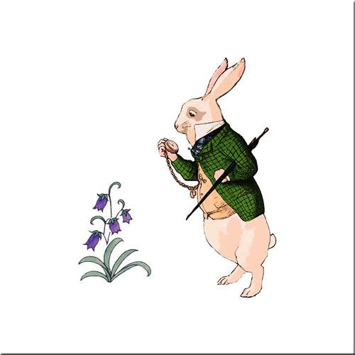 The White Rabbit, original CFA Voysey design for Alice in Wonderland produced by Minton Co., 1890s