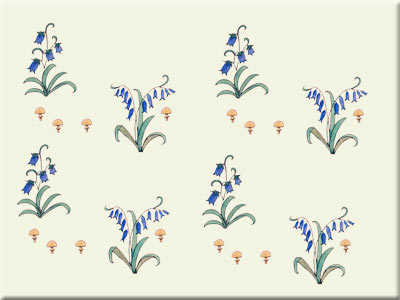 CFA Voysey Alice in Wonderland bluebell field tile