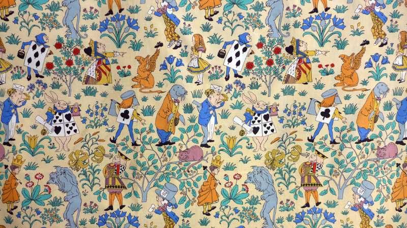 CFA Voysey original design for Alice in Wonderland Fabric 1920