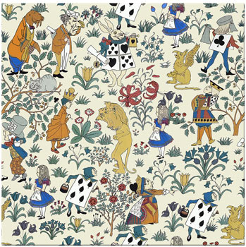CFA Voysey Alice in Wonderland pattern, single tile