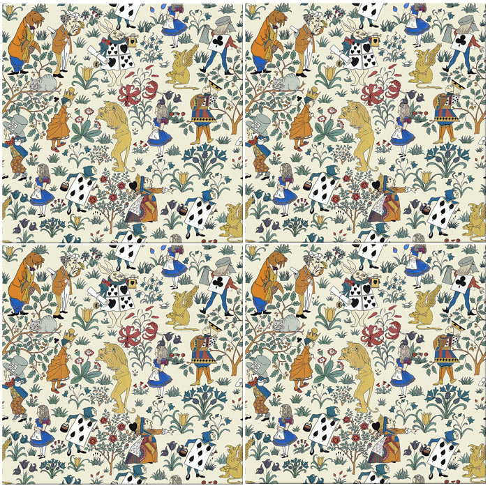 CFA Voysey Alice in Wonderland seamless tiles