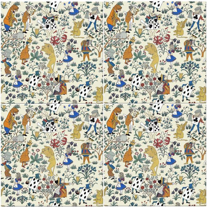 CFA Voysey Alice in Wonderland seamless tiles
