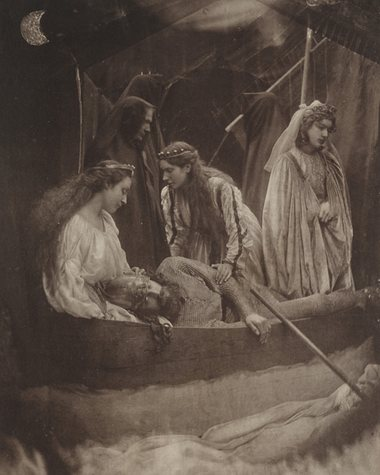 Pinned for later from williammorristile.com: Far left: Julia Margaret Cameron, 1875, So Like a Shatter'd Column lay the King