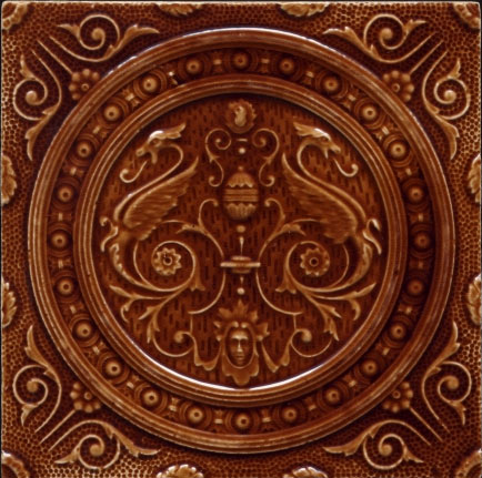 Victorian majolica tile