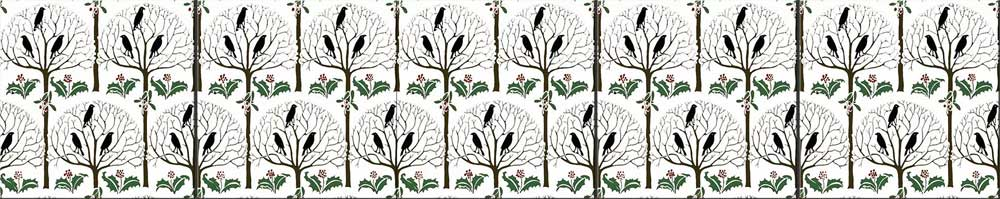 CFA Voysey, Rook and Holly blackbirds